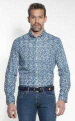 Groene Campbell Classic Casual Overhemd Heren lange mouw