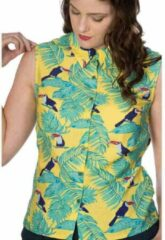 Dancing Days Blouse -XS- TOUCAN ALL OVER BLOUSE Geel