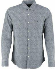 Replay donkerblauw wit regular fit overhemd - Maat M