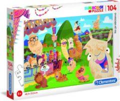 Clementoni Legpuzzel - Supercolor Puzzel Collectie - No probllama - 104 stukjes, puzzels kinderen