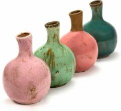 Serax Vaas-Siervaas Roze-Mint groen-Turquoise D 17 cm H 24 cm Per stuk