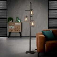 Grijze Easy Furn Vloerlamp Finley