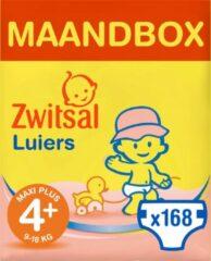 Zwitsal Luiers - Maxi Plus Maat 4+ - 168 stuks - Voordeelverpakking