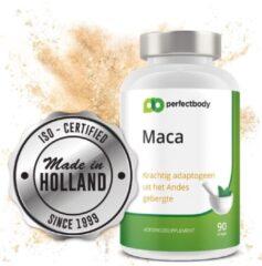 Natuurlijke Maca Extract (90 Capsules) 1000 Mg | Matcha Tea Dagdosering 2 Capsules | Superfood Supplement | PerfectBody.NL