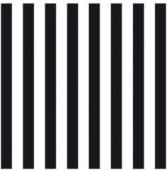 Ambiance servetten Servetten gestreept zwart/wit 3-laags 20 stuks