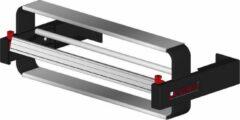 Zwarte MTis LEGRO Papierrolhouder Wandmodel incl. wandsteunen tbv 1 rol- Breedte 90 cm - m lang - Breedte 90 cm - Snijmes op rails - - 915.1100.4.20