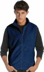 James & Nicholson Fleece casual bodywarmer navy blauw voor heren - Outdoorkleding wandelen/zeilen - Mouwloze vesten L