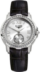 Zwarte Elysee 22003 - Ladies Edition - 33 mm - Zilverkleurig