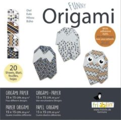 Fridolin Funny Origami: UIL 15x15cm, 20 bladen met 4 verschillende tekeningen