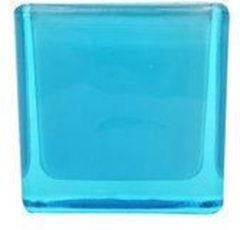 Cosy&Trendy Theelichthouder Vierkant - Blauw - 5 cm x 5 cm - Set-4