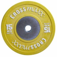 Gele Lifemaxx Crossmaxx Competition Bumper Plate - 50 mm - 15 kg