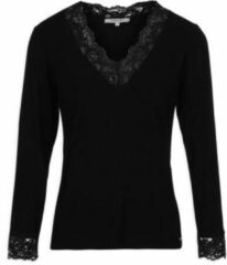 Zwarte T-Shirt Lange Mouw Morgan TRACY