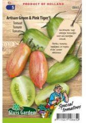 Groene Sluis Garden Tomaat (langgerekt) zaden - Artisan groen & Pink Tiger