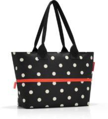 Reisenthel Shopper e1 Shopper - Schoudertas - Polyester - 12 naar 18 L - Mixed Dots Zwart;Wit;oranje