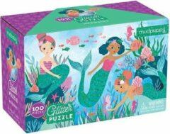 Galison Glitter Puzzel – Zeemeerminnen 100stuks| Mudpuppy