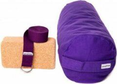 Zenzes PRO bolster met yogariem en yogablok - paars