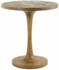 Donkerbruine Light & Living Bijzettafel 'Bicaba' 50cm, hout donker bruin
