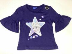 Donkerblauwe Disney Frozen Meisjes T-shirt met pailletten Maat 98/104
