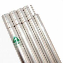 Zilveren Allesvoordeliger Original tentstok mostert - 200 cm - nestelbaar aluminium