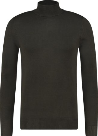 Afbeelding van Purewhite Regular fit groen knitwear never out of stock never out of stock Heren Sweater Maat S