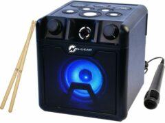 Zwarte N-GEAR DRUM BLOCK 420 - Portable disco speaker - Drumsticks