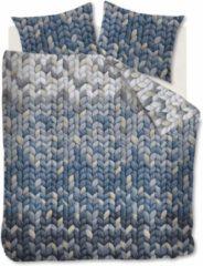 Ariadne At Home Warmly Dekbedovertrek - 2-persoons (200x200/220 Cm + 2 Slopen) - Katoen - Marineblauw