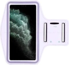 All About Your Phone Hardloop Sportarmband iPhone 12 Pro   Telefoonhouder iPhone 12 Pro   Hardlooparmband   Wit