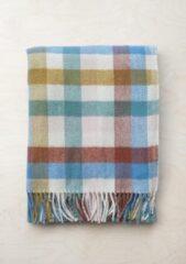 TBCo Prachtig Picknickkleed NU met OLIJFGROENE draagset   Rainbow Check   Duurzaam wol met waterdichte laag   From Scotland