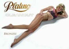 Platino cleancut glans panty maat 36/38 bronzee