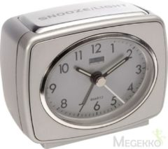 Balance time Quartz Alarm Clock Analogue Silver