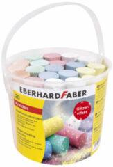 Stoepkrijt Eberhard Faber glitter 20 stuks in emmer