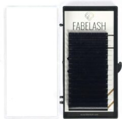 Zwarte Fabelash Wimperextensions D curl dikte 0,20 mm mixed tray lengte 8 t/m 14 mm 16 rijen