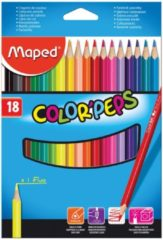 Maped Office Maped kleurpotlood Color'Peps - 18 potloden - kartonnen etui - 21 x 15 x 1 cm