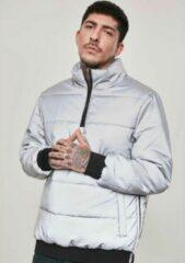 Urban Classics Pullover Jas -M- Reflective Zilverkleurig
