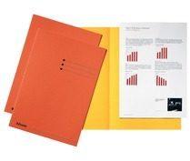 Esselte dossiermap oranje, karton van 180 g/m², pak van 100 stuks