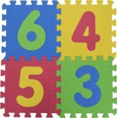 Free And Easy Puzzelmat Cijfers Junior 31 Cm Eva Foam 9-delig