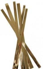 Goudkleurige Rayher hobby materialen Papier knutelen vlechtstroken goud 48 stuks - hobby artikelen voor o.a. kerst en bruiloft