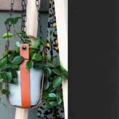 Handles and more Leren plantenhanger | ZWART (i.c.m. zwarte ketting)