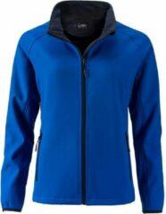 Marineblauwe James & Nicholson James and Nicholson Dames/dames Promo Softshell Jacket (Nautisch blauw/navy)