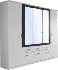Rauch Kleiderschrank Burano mit Spiegel, weiß/grau-metallic