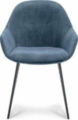 Happy Chairs - Armstoel Antonio - Velvet Petrol