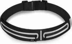 Zwarte Running Belt waterafstotend met 2 vakken - ZAYO