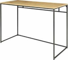 Bruine Maison Woonstore Maison's Bureau - Tafel - Laptoptafel - Bureautafel - Industrieel - Zwart/Hout - 45x100x75cm