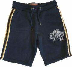 Superdry Stevig blauw sweatshort - Regular fit Short Maat S