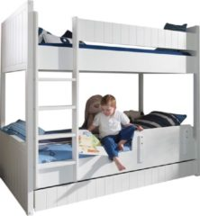 Witte Vipack Robin - Stapelbed - Wit - 97 x 210 cm