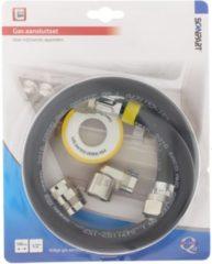 Scanpart gasslang aansluitset 1/2 100cm aluminium (NL) Kookplaat accessoire Zwart