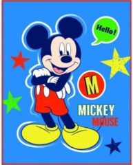 Disney Mickey Mouse Expressions - Plaid - 110 x 140 cm - Blauw