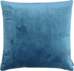 Blauwe The Cushion Shop kussen Velvet Grey Blue