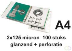 GBC Organise lamineerhoes ft A4+, 250 micron (2 x 125 micron), glanzend, pak van 100 stuks
