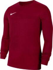 Bordeauxrode Nike Park VII LS Sportshirt - Maat L - Mannen - bordeaux rood